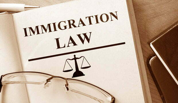 book with label immigration law representing immigration appeals procedure